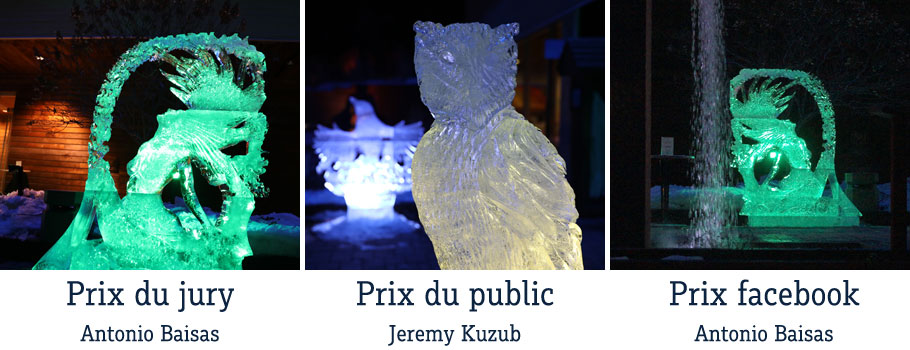 Ice sculptures contest